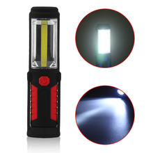 Professional Work LED Flashlight Torch Inspection Light Lamp for Auto Repair with 2 Strong Magnets, Camping Emergency Hook Light(China)