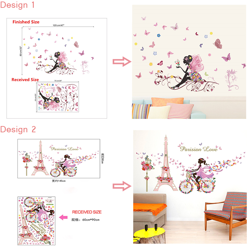 HTB1g19lSFXXXXX.XFXXq6xXFXXXy - Butterfly Flower Fairy Wall Stickers for Kids Rooms