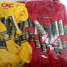 CXC(CXC) embroidery thread cross stitch thread five colors 24 Pieces with box and 50 pices with plastic bag ,six strands