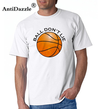 Antidazzle Novelty BALL DON'T LIE USA America American Men's Short Sleeve T shirt Hipster T-shirt Tees Male