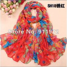 2012 fashion scarf for woman printe cotton long voilescarvesmulticolor ladies popular shawls promotion factory discount HQJ10012(China)
