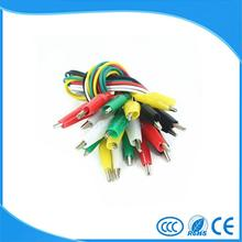 Hot 10pcs Alligator Clips Electrical DIY Test LeadsAlligator Double-ended Crocodile Clips Roach Clip Test Jumper Wire