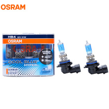 OSRAM 9006 HB4 5000K 12V 51W Cool Blue Hyper+ Halogen Bulbs Xenon Bluish White 50% More Light Car Lamps Hi/Lo Beam 9006CBH 2pcs(China)