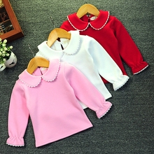 1-4 Baby Girl Clothes Autumn Winter Shirt Cotton Fleece Long Sleeve Warm Top Toddler Girl Clothing Kids kawaii Pullovers t-shirt