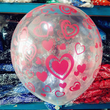 12inch Red Color Clear love Romatic Latex Balloons Helium Transparent Ball For Birthday Wedding Party Decor balloons