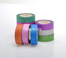 Sale 10PCS 15mm 10m Mix colors Origami Handmade paper DIY For school Washi Tape Book Decoration DIY Adhesive Paper Scrapbook(China)