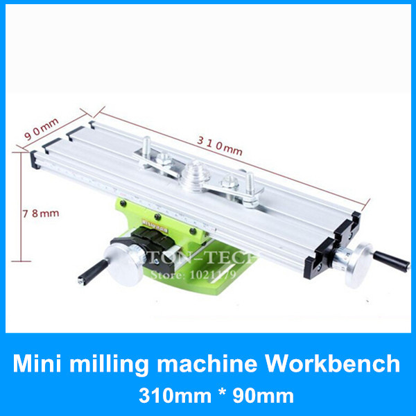 High quality mini milling machine workbench drilling tools 310mm*90mm aluminium drilling milling machine work table<br>