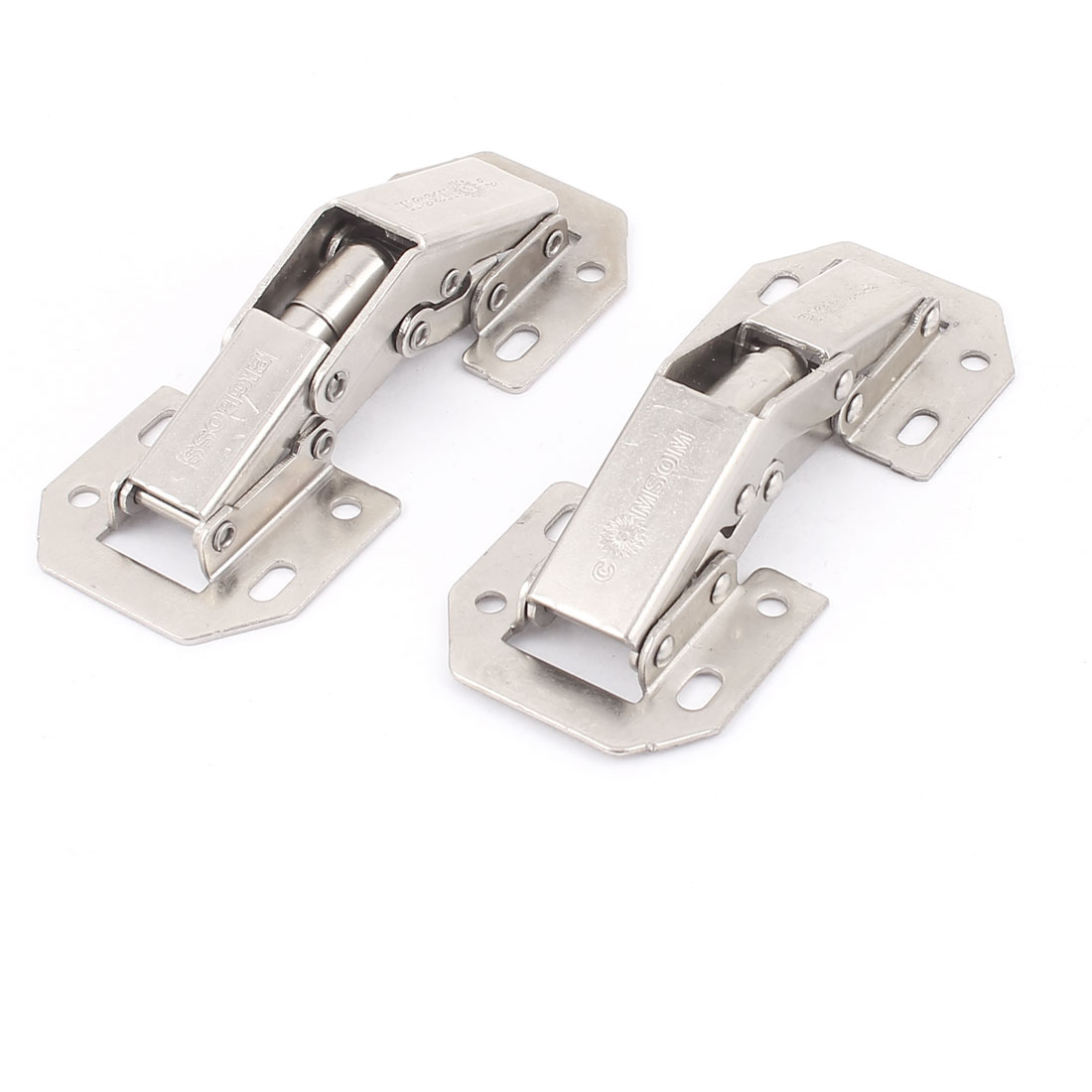 Cabinet Hydraulic Self Close Half Overlay Clip On Concealed Inset Hinge 2Pcs(China (Mainland))