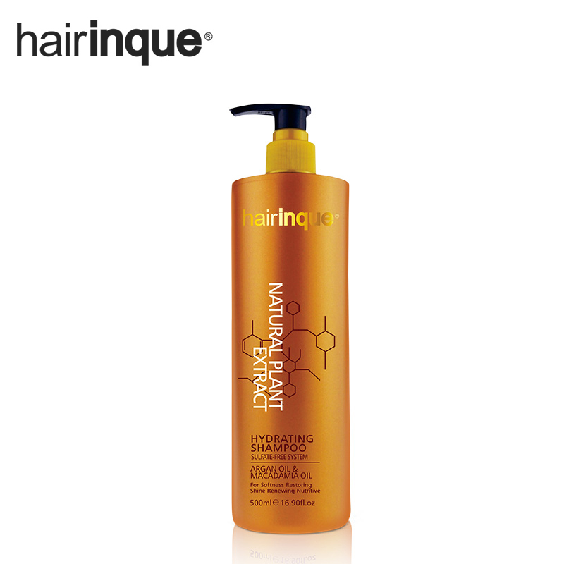 HAIRINQUE 500ml Sulfate-free professional argan oil and macadamia nut oil hydrating hair shampoo healthier and organic<br>