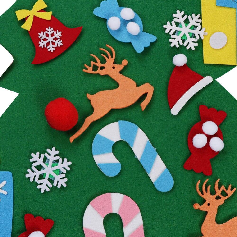 Ourwarm 18 DIY Felt Christmas Tree Pendant Drop Ornaments New Year Gift for Children Kids Door Wall Hanging Xmas Decoration 12