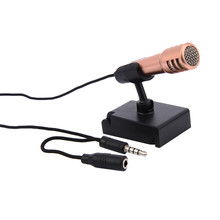 Fashion 3.5mm Mini Smartphone Microphone Wired Stereo Condenser Mic for iPhone Android PC Laptop Chatting Singing Karaoke(China)