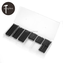 127 Pcs 12 Sizes PE Heat Shrink Tube Tubing Wrap Sleeve Wire Kit With Box 2:1H Type 7 Sizes Heat Shrinking Tube Tool