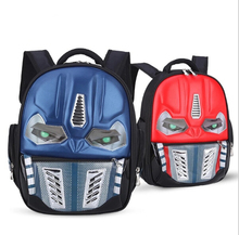 Transformers School Bag Children 4-8Years Kids Backpack Mochila Bag Waterproof Cartoon Boys Bag