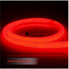 1-10m mini 14mm diameter round Neon flex,120pcs 2835/m 360 degree lighting led neon tube ,220-240V  led sign board tube