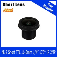Megapixel Lens For WIFI Camera/Car Camera/Peephole/Webcam/Portable Camera 173 Degree Short Length 1/4 inch 1.38mm Free Shipping