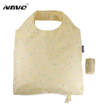 NAVO Design Large Shoping Bag Fresh Style Folding Shopping bag Foldable Reusable Grocery Bags Eco Bag opvouwbare boodschappentas(China)