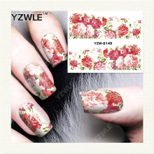 YZWLE 1 Sheet DIY Decals Nails Art Water Transfer Printing Stickers Accessories For Manicure Salon YZW-8149