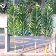 Christmas 104cm Latex Artificial Bamboo Coconut Palm Plant Tree Leaf Branch Frond Wedding Garden Outdoor Decor Fake Green