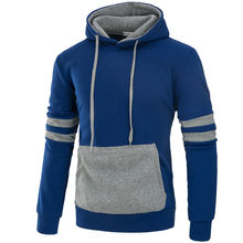 Mens Fashion Casual Plain Hoodie Sweatshirt Hooded Pullover Casual Adult Top Black Gray Red Blue Autumn Hoodies(China)