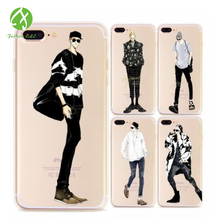 For IPhone 6s 6plus 7 7plus Fashion Trends Individual Boy Series Phone Cases OPP Package TPU Soft Mobile Phone Bags Casess
