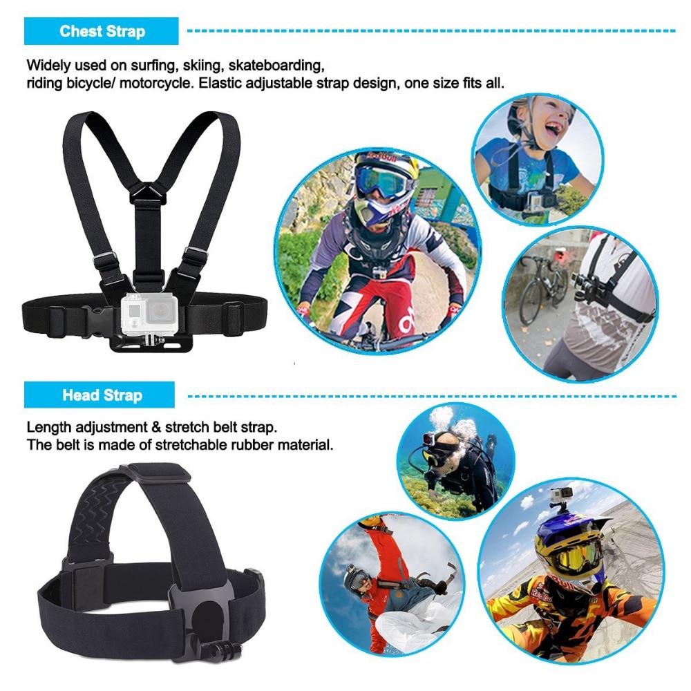 LANBEIKA Accessories Head Chest Strap Floating Hand Grip Carry Box Car Suction Cup For Gopro 6 5 4 3+ 3 SJCAM SJ4000 SJ5000 SJ6