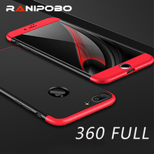 luxury 360 Case Matte Hard Ultra thin Capa Cover For Apple iPhone 6 6s 6Plus 6s Plus 7 7 Plus China Rose Red Colorful Phone Case