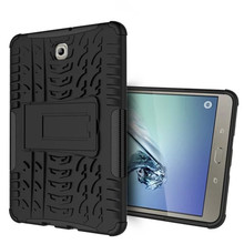 "Heavy Duty Armor Tire Style TPU PC Hard Cover Case for Samsung GALAXY Tab S2 T710 T715 8.0"" tablet Skin Robot Cover Case"