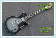 100% Real Pictures LP Custom Guitar Black Single P90 Pickup 2 Knobs China Guitars In Stock(China)