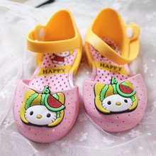 14-16.5cm summer Hello kitty KT cat design child sandals beach shoes breathable girls jelly PVC sandals(China)