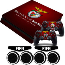 Buy BENFICA Football Club PS4 Slim Viny Sticker Non-slip Skin+2x LED Light Bar Skin +4x Caps Sony Playstation 4 Slim Console for $8.55 in AliExpress store