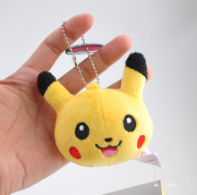 Novelty 1Piece Pikachu Plush Dolls - SIZE 8CM Pikachu Keychain DOLL TOY Plush Stuffed TOY DOLL BAG Pendant TOY
