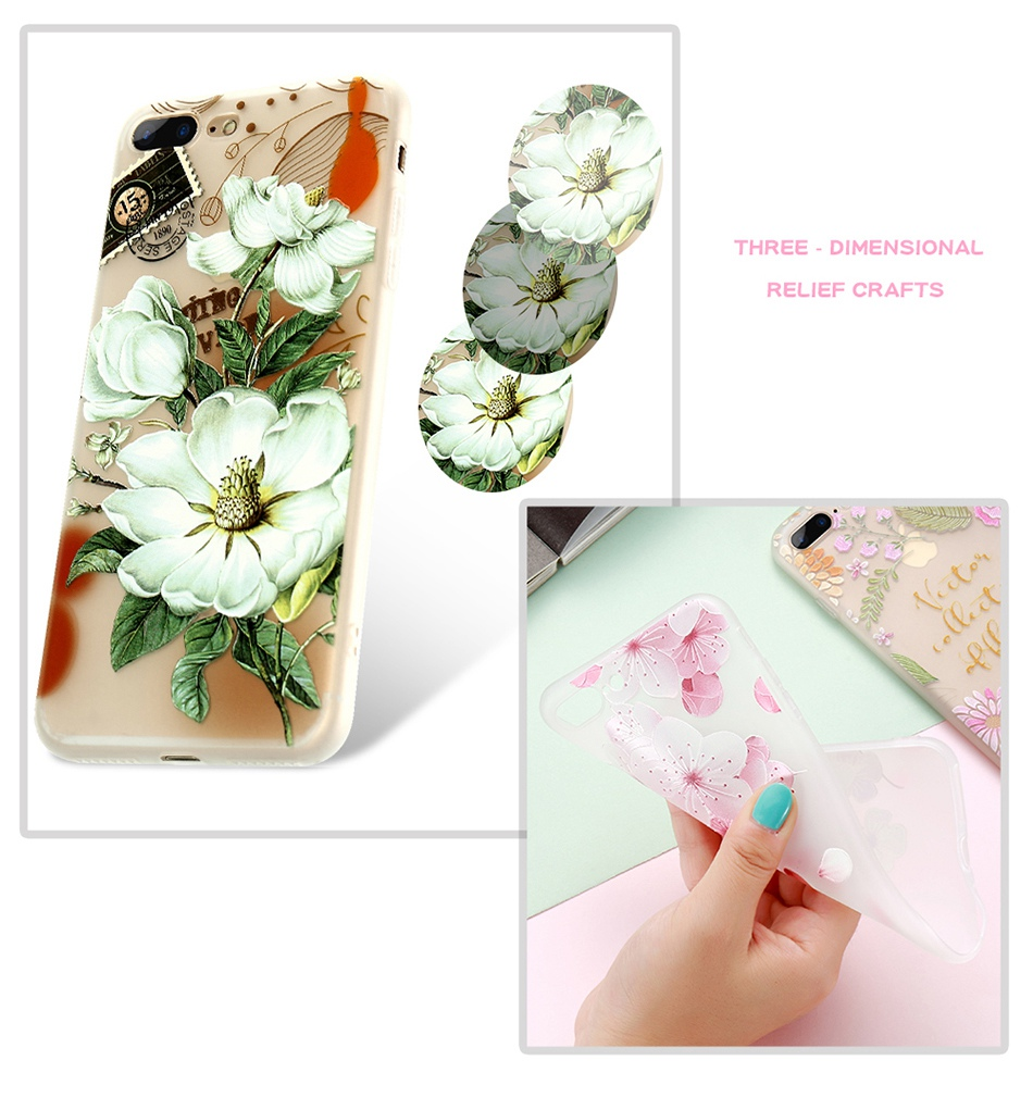 For iPhone 6 6S iPhone 7 Plus Soft TPU Silicon Phone Cover (6)