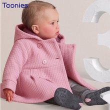 2017 Autumn Winter Baby Girl Jacket Hooded Casual Kawaii Infant Coat Outwear Kids Clothes Newborn Jacket Baby Cardigan Pink Red(China)
