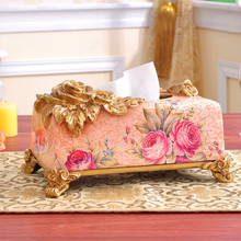 Luxurious Palace Tissue Box Country Home Decor Box For Napkins Tissue Box Cover 27*15*14cm(China)