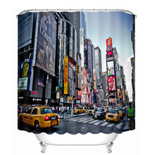 Busy Street Advertising City 3D Shower Curtain Waterproof Washable Thickened Bathroom Curtains Merry Christmas Gifts