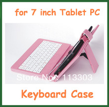 "5pcs USB Keyboard&PU Leather Cover Case Bag for 7"" Tablet PC Pipo S1,Ainol Novo 7 Venus/Fire Flame/PX1/EOS,Cube 18GT,Onda V711S"