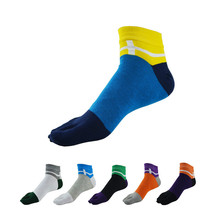 6pairs/lot   Four Seasons Men High Quality Socks Cotton Five Finger Toe Breathable Warm Absorb Sweat  Boy Elasticity Sock WZ91