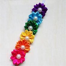 1PC Cute Baby Girl Hairband Rainbow Colorful Flower Hair Headband Acessories Photography Kids Headwear Head Bands Decoration
