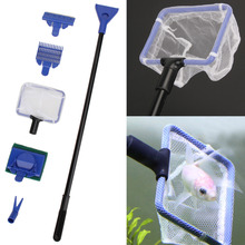 5Pcs/set Aquarium Tank Cleaning Kit Fish Net Gravel Rake Algae Scraper Fork Sponge Brush Glass Aquatic Cleaning Tools(China)