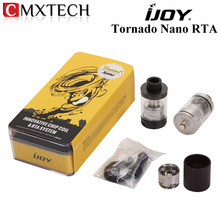 IJOY Tornado Nano RTA Sub ohm Tank 4ml Capacity Atomzier with 18.6mm Two Post Deck Top Filling Clearomizer E Cigarettes Vape