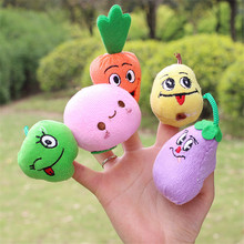 10pcs/set Baby fruit series Finger Puppet toys kids stuffed plush puppet educational Toys Cartoon Plush cute toy TO151(China)