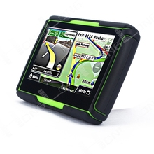 New Green 4.3'' Waterproof Bluetooth Motorcycle GPS Navigation 4GB Flash+Professional Maps Most Countries128M DDR Free shipping!