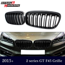 Replacement part M2 dual slat black grill for bmw 2 series active tourer f45 f46 2015 2016 model 220i