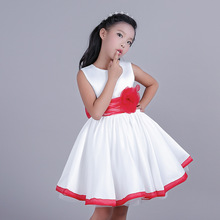 Girl Fashion Girls Dress European Princess New Year Children's Garment Autumn Christmas Holiday Party Wedding Toddler Cotton