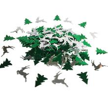 Christmas Tree And Elk Shaped Merry Christmas Table Confetti For Home Party Decoration(China)