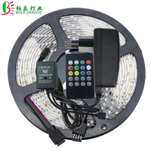 5m 10m Music LED Strip Light SMD 2835 12V 60 leds/m Waterproof RGB Flexible Colorful LED Tape Ribbon String Lamp+Power Adapter(China)
