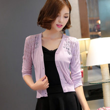 2705 real summer hollow fichu coat sunscreen clothing female thin short small vest small cardigan outside the ride 19