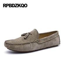 Loafers Breathable Alligator Big Size Black Cheap Blue 46 Slip On Crocodile Moccasins Tassel Brown Brogue Suede Leather Men