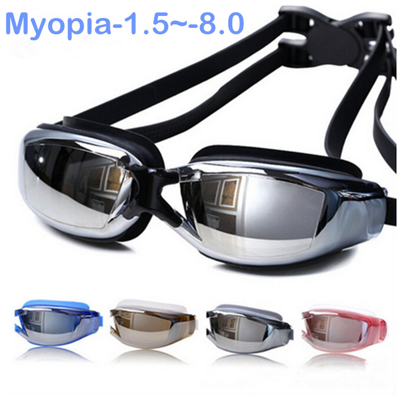 2016 New Hot Adult Professional Myopia Swimming Goggles With Box Men Women Swim Eyewear Anti Fog UV Swimming Glasses Water Pool<br><br>Aliexpress