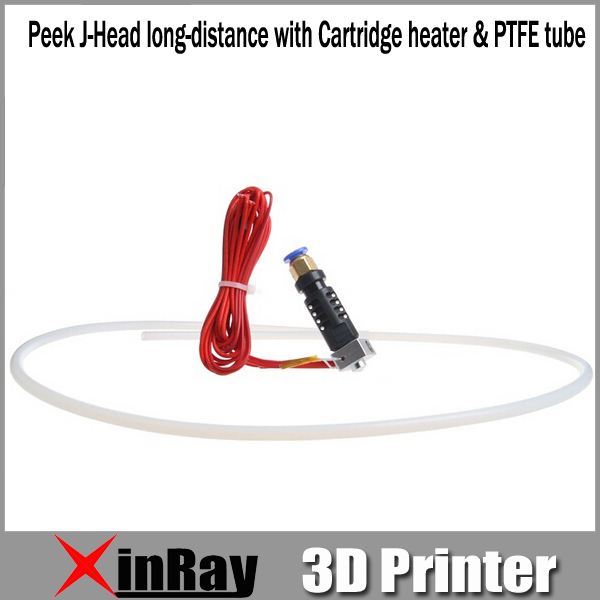 Free Shipping Hot Selling Peek J-Head long-distance with Cartridge heater &amp; PTFE tube 3d Printer Accessories GT037<br><br>Aliexpress